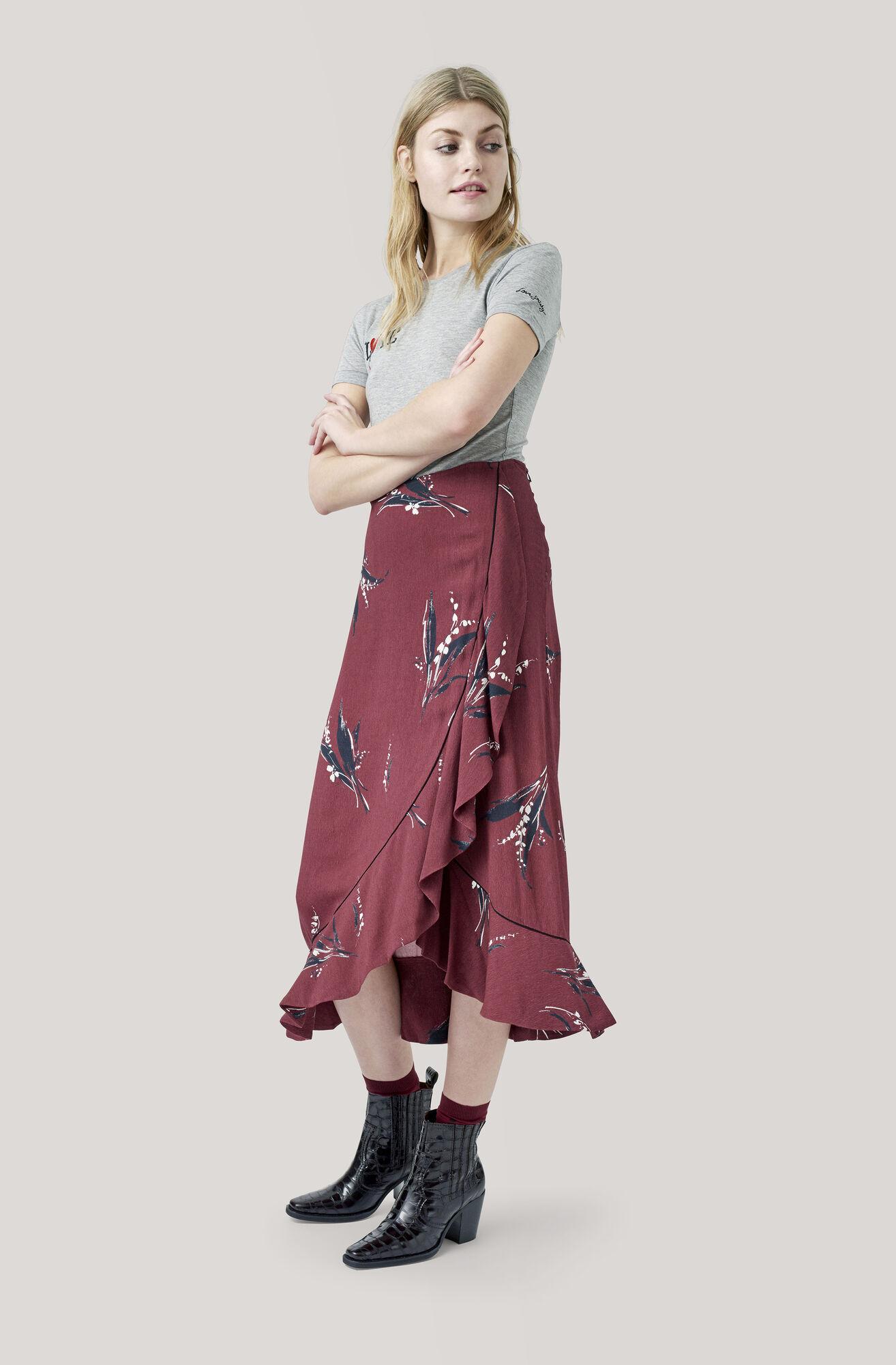 Montrose Crepe Skirt, Decadent Chocolate, hi-res