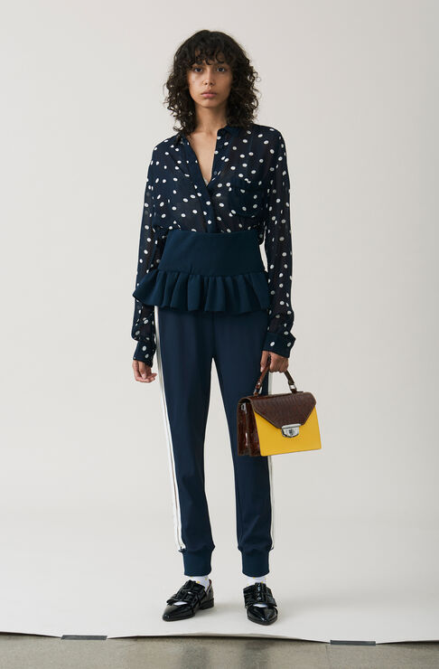 Marceau Georgette Shirt, Total Eclipse, hi-res