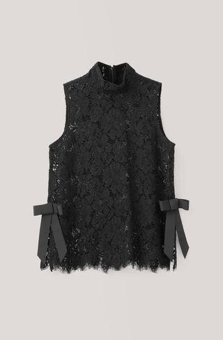 Duval Lace Top, Black, hi-res