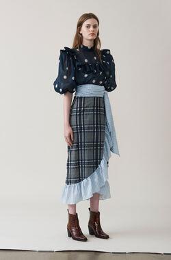 Charron Wrap Skirt, Total Eclipse, hi-res