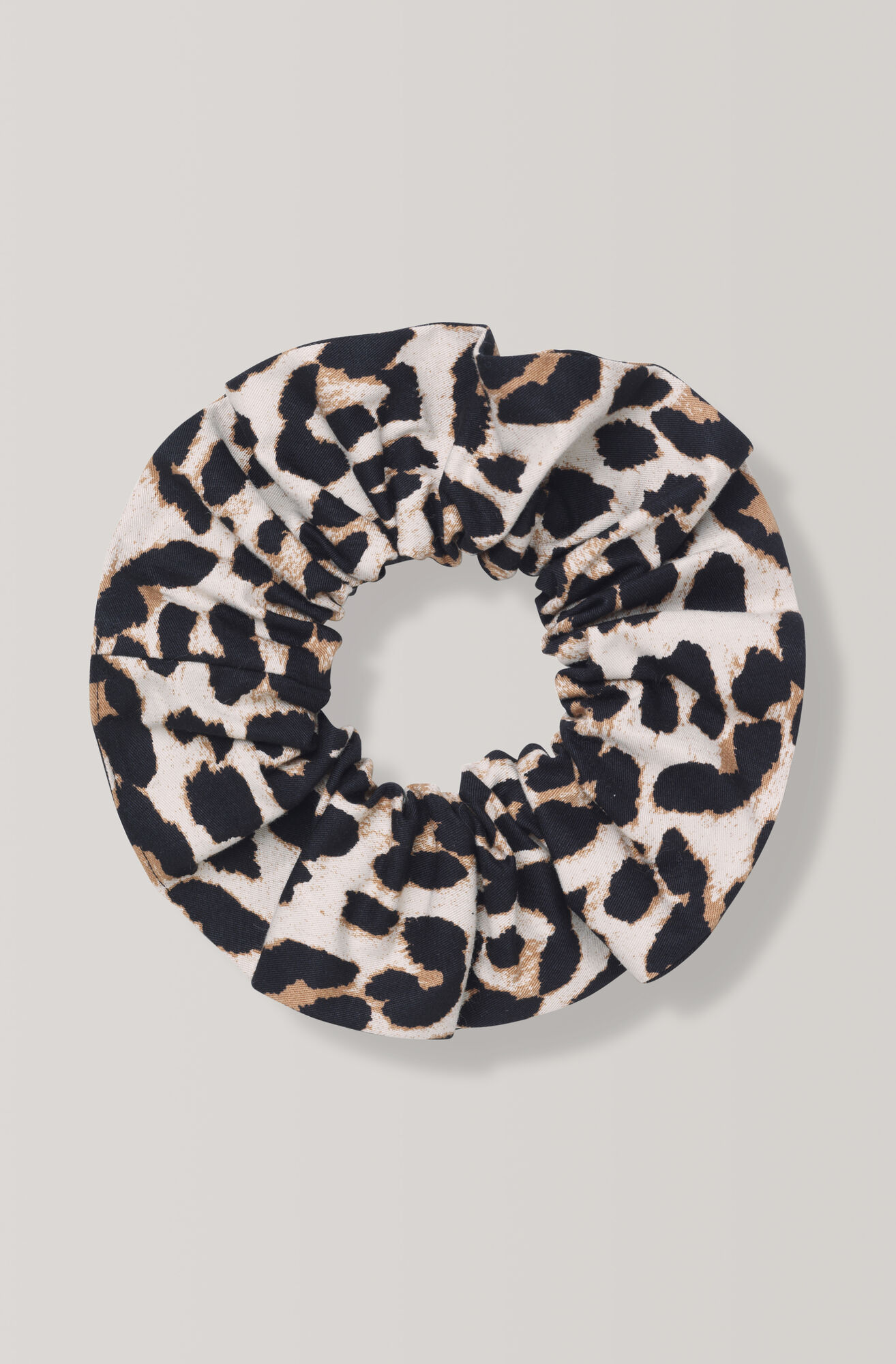 Fabre Cotton Scrunchie, Leopard, hi-res
