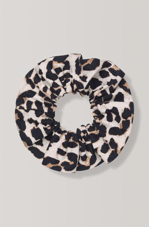Fabre Cotton Scrunchie, Leopard, hi-res