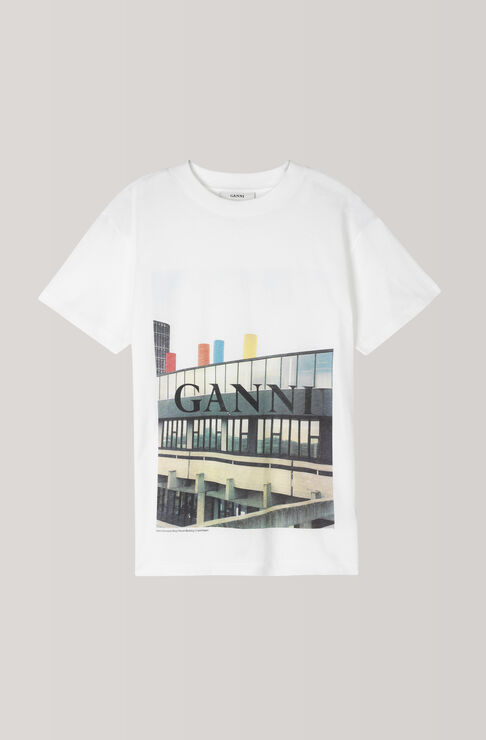 Harway T-Shirt, Building, Bright White, hi-res