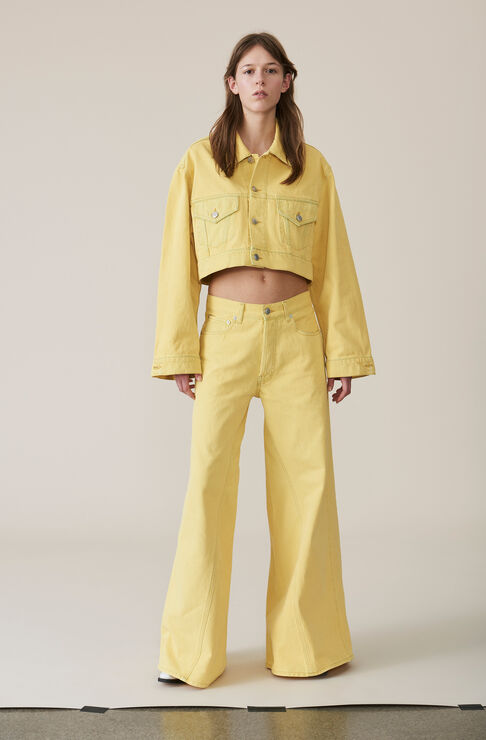 Denim Runway Pants, Anise Flower, hi-res