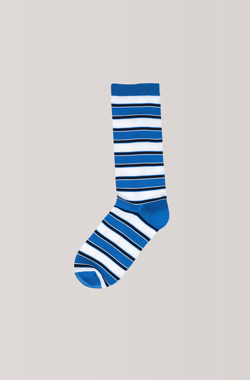 Classon Stripe Ankle Socks, Marina, hi-res