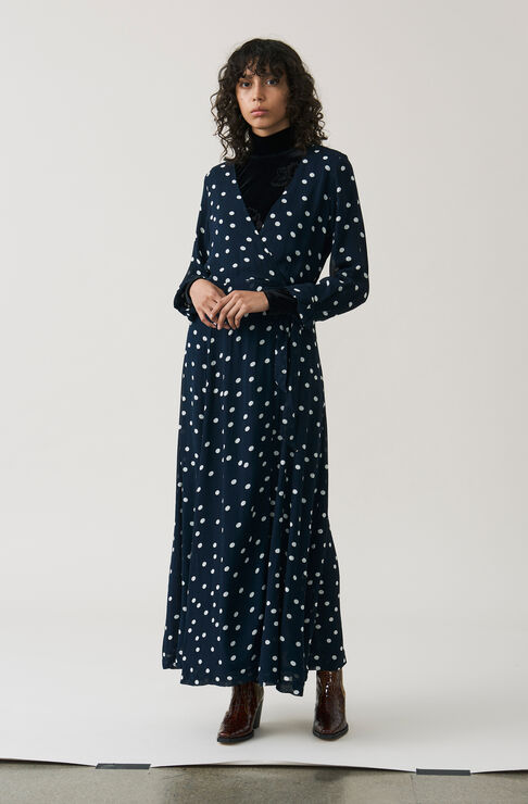 Marceau Georgette Maxi Dress, Total Eclipse, hi-res