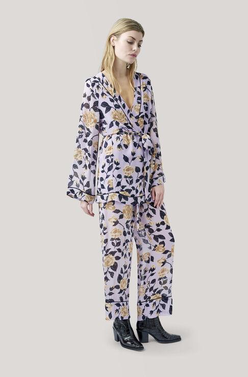 Carlton Georgette Kimono, Pastel Lilac, hi-res