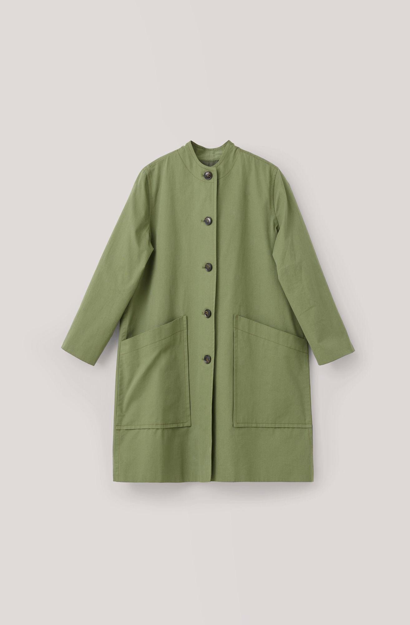 Fabre Cotton Coat, Army, hi-res