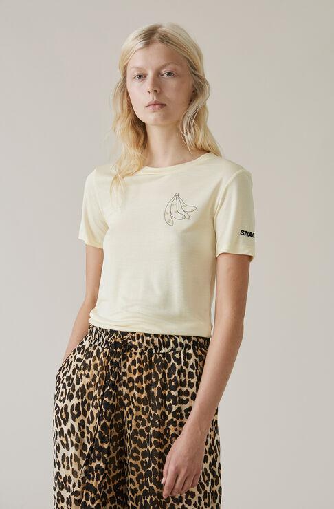 Linfield Lyocell T-shirt, Banana, Anise Flower, hi-res