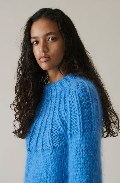 The Julliard Mohair Bow Pullover, Marina, hi-res