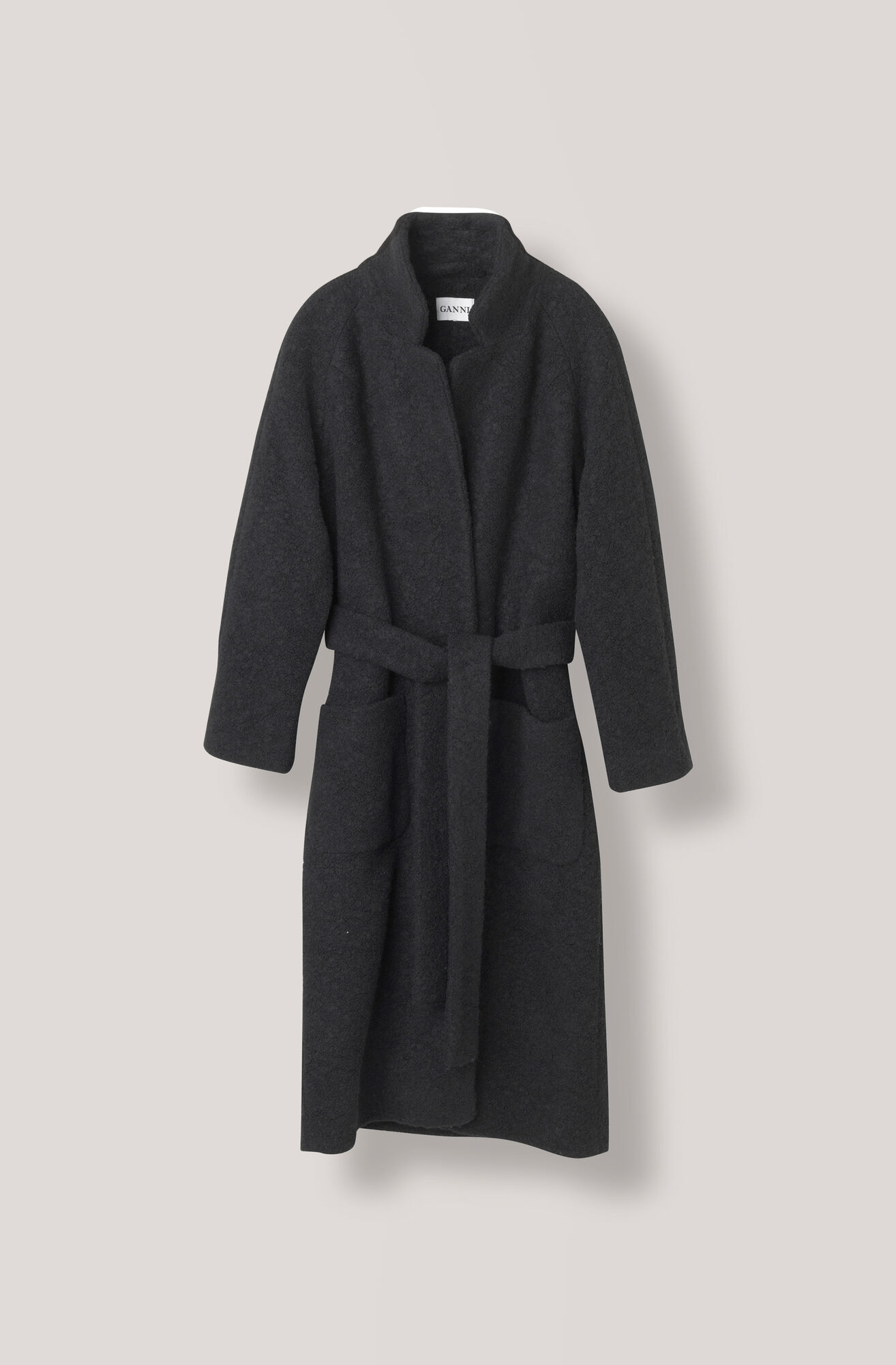 Fenn Long Wrap Coat Ganni