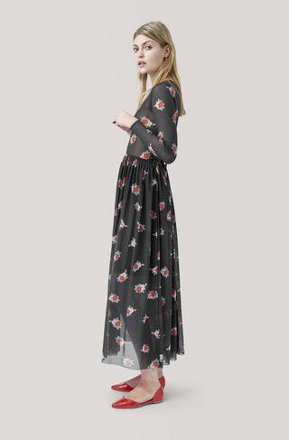 Tilden Mesh Maxi Dress, Black, hi-res