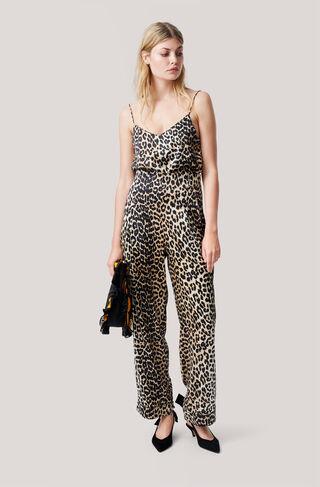 Dufort Silk Pants, Leopard, hi-res