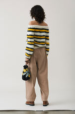 The Julliard Mohair Off Shoulder Pullover, Block Colour, hi-res