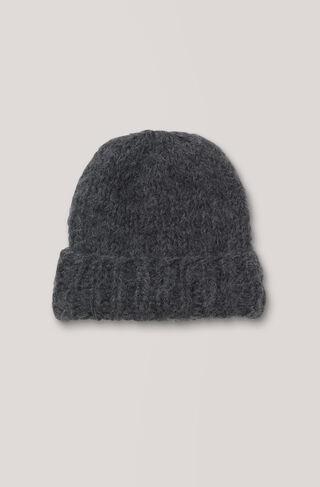 The Julliard Mohair Hat, Ebony Melange, hi-res