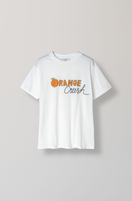 Harway T-Shirt, Orange Crush - Ganni