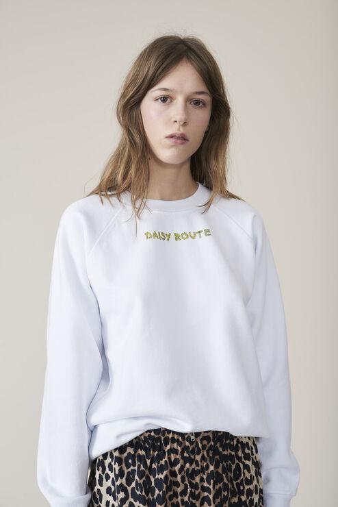 Lott Isoli Sweatshirt, Daisy Route, Bright White, hi-res
