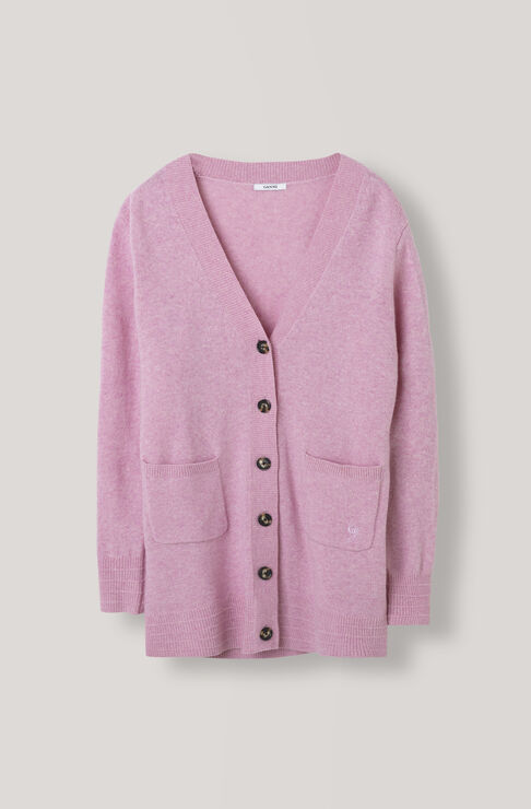 Mercer Cardigan, Sea Pink, hi-res