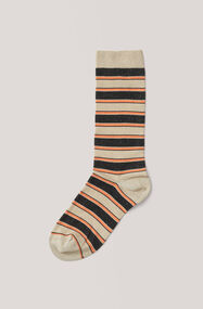 Paltrow Glitter Ankle Socks, Black Stripes, hi-res