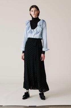 Valmy Wrap Skirt, Black, hi-res