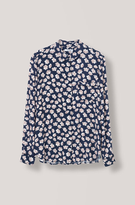 Montrose Crepe Shirt, Total Eclipse, hi-res