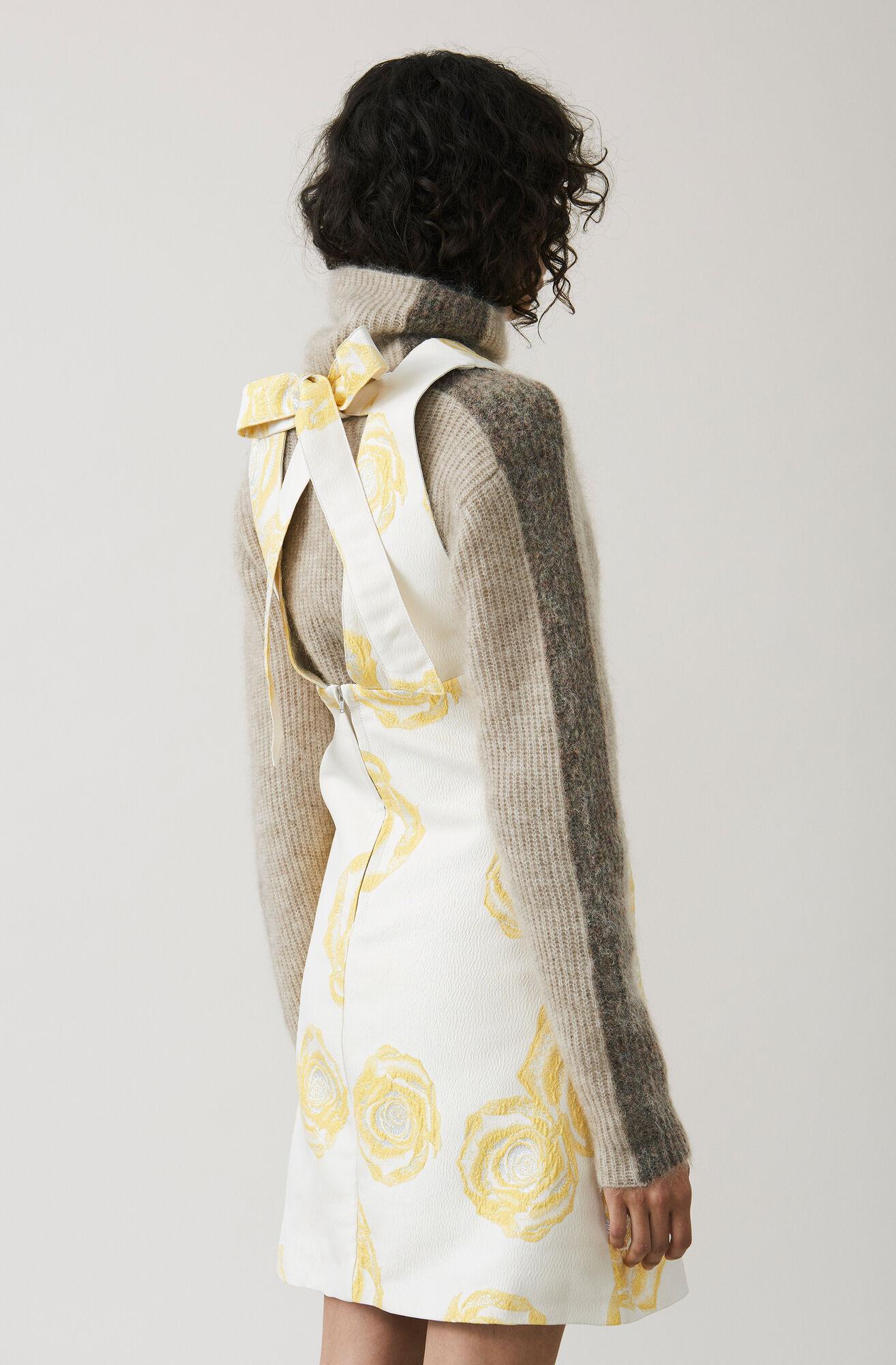 Turenne Jacquard Mini Dress, Vanilla Ice, hi-res