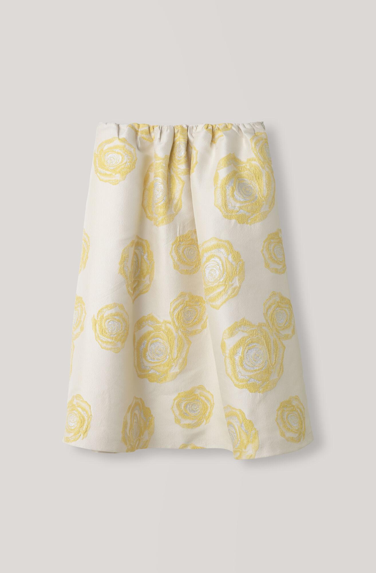 Turenne Jacquard Skirt, Vanilla Ice, hi-res