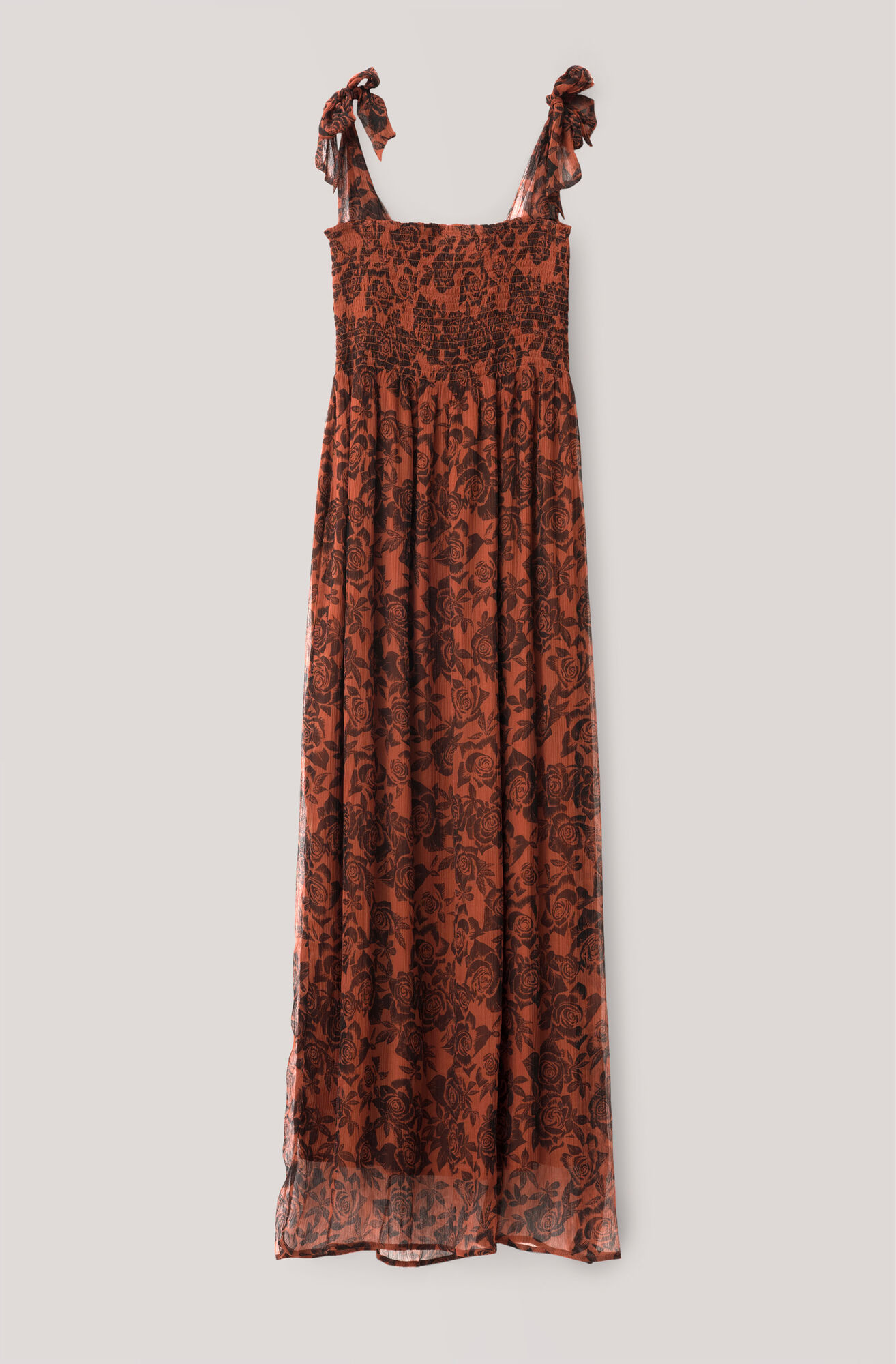 Beaumont Chiffon Dress, Brandy Brown, hi-res