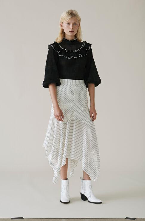 Wilkie Seersucker Skirt, Vanilla Ice, hi-res