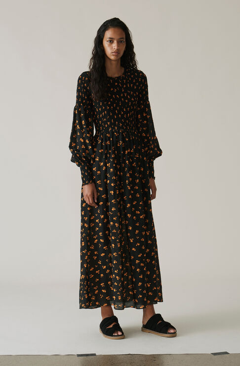 Beacon Maxi Dress, Black, hi-res