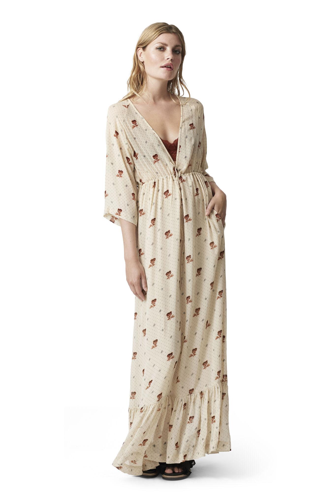 Newman Georgette Maxi Dress, Biscotti, hi-res