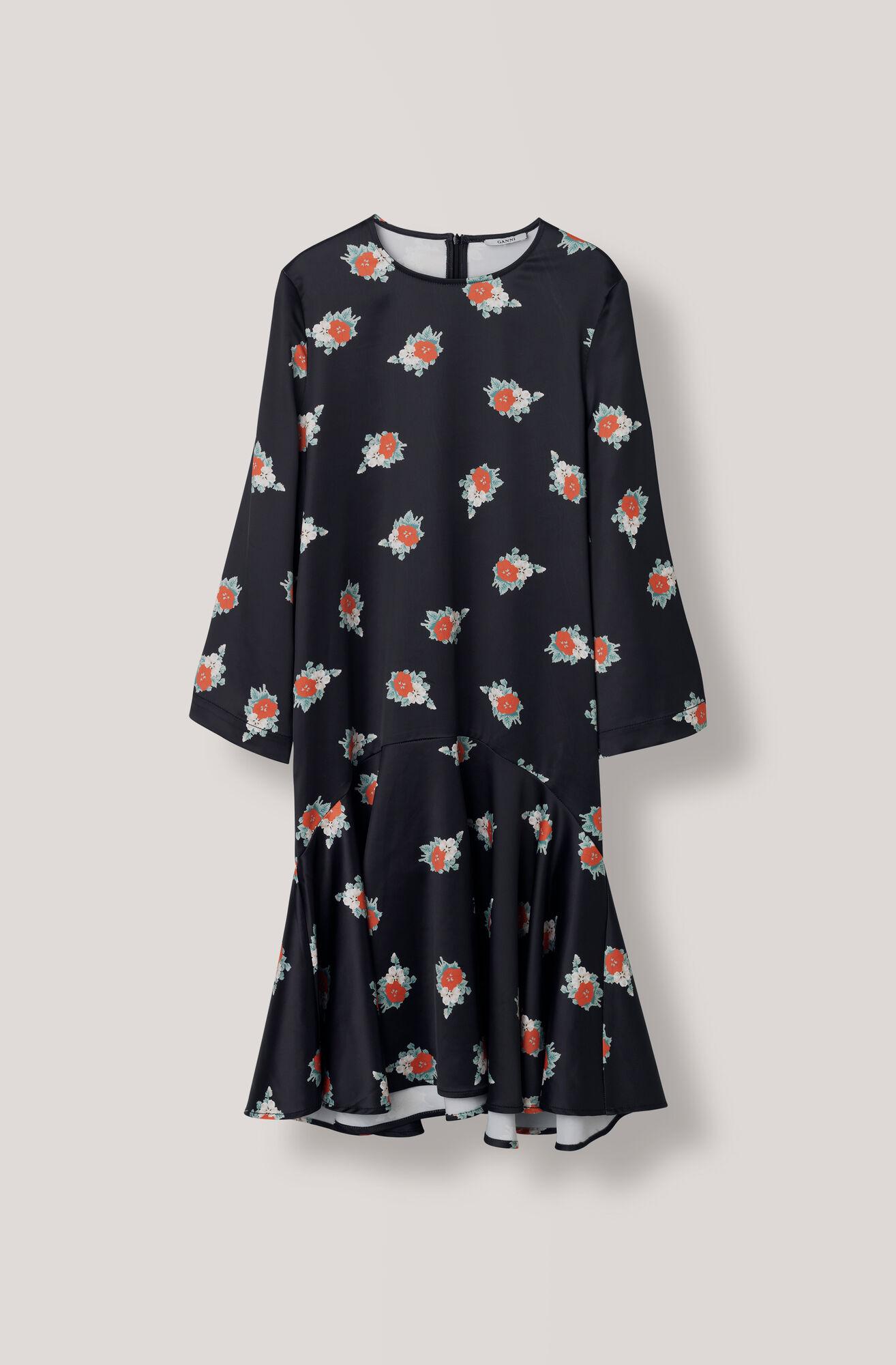 Glenmore Dress, Black, hi-res