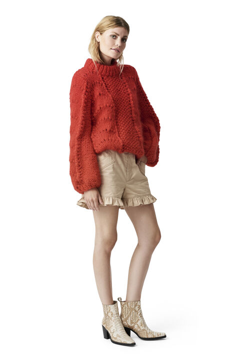 The Julliard Mohair Pullover, Fiery Red, hi-res
