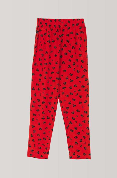 Emory Crepe Pants, Fiery Red, hi-res
