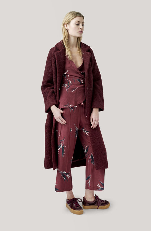 Fenn Long Wrap Coat, Decadent Chocolate, hi-res
