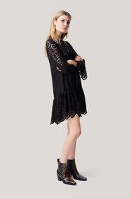 Emile Lace Dress, Black, hi-res