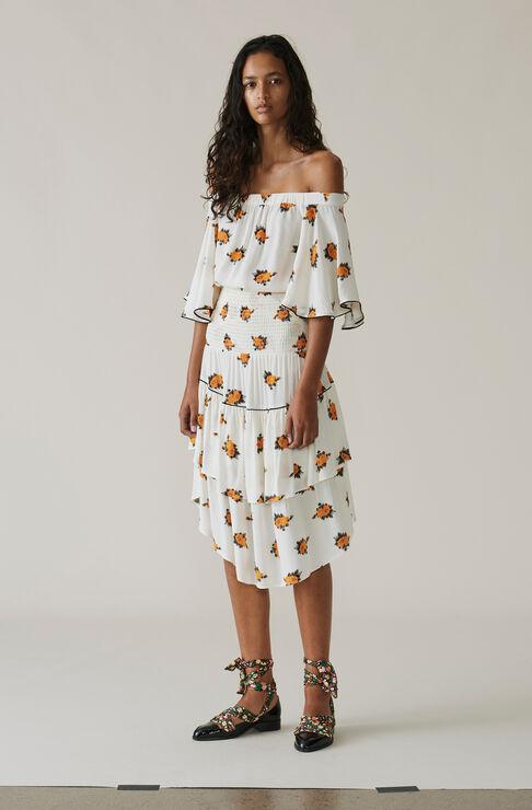 Roseburg Crepe Skirt, Vanilla Ice, hi-res