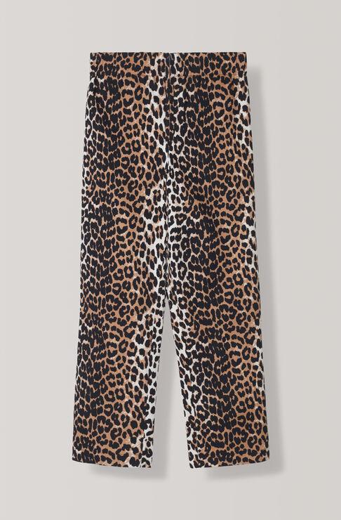 Fabre Cotton Pants, Leopard, hi-res