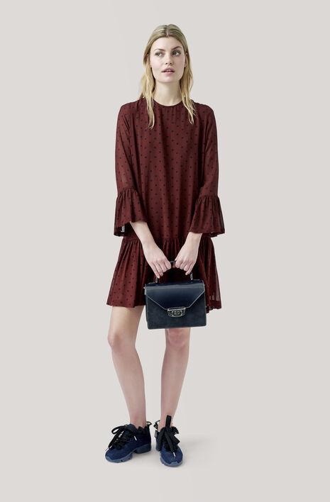 Carlton Georgette Dress, Decadent Chocolate, hi-res