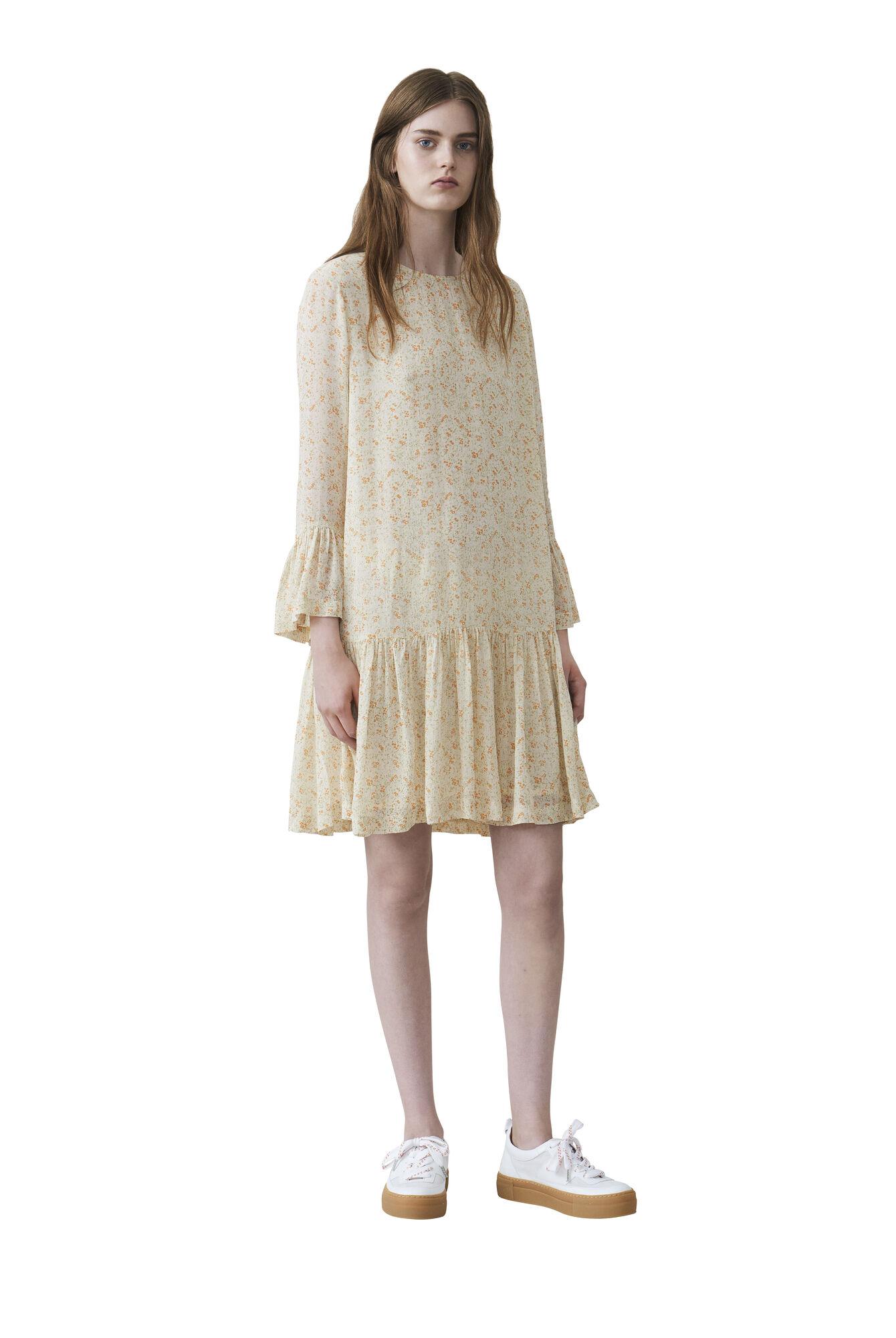 Clermont Georgette Dress, Meadow Flowers, hi-res