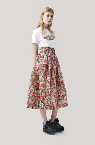 Seneca Silk Skirt, Multicolour, hi-res