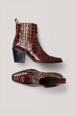 Rosette Ankle Boots, Tortoise Shell, hi-res
