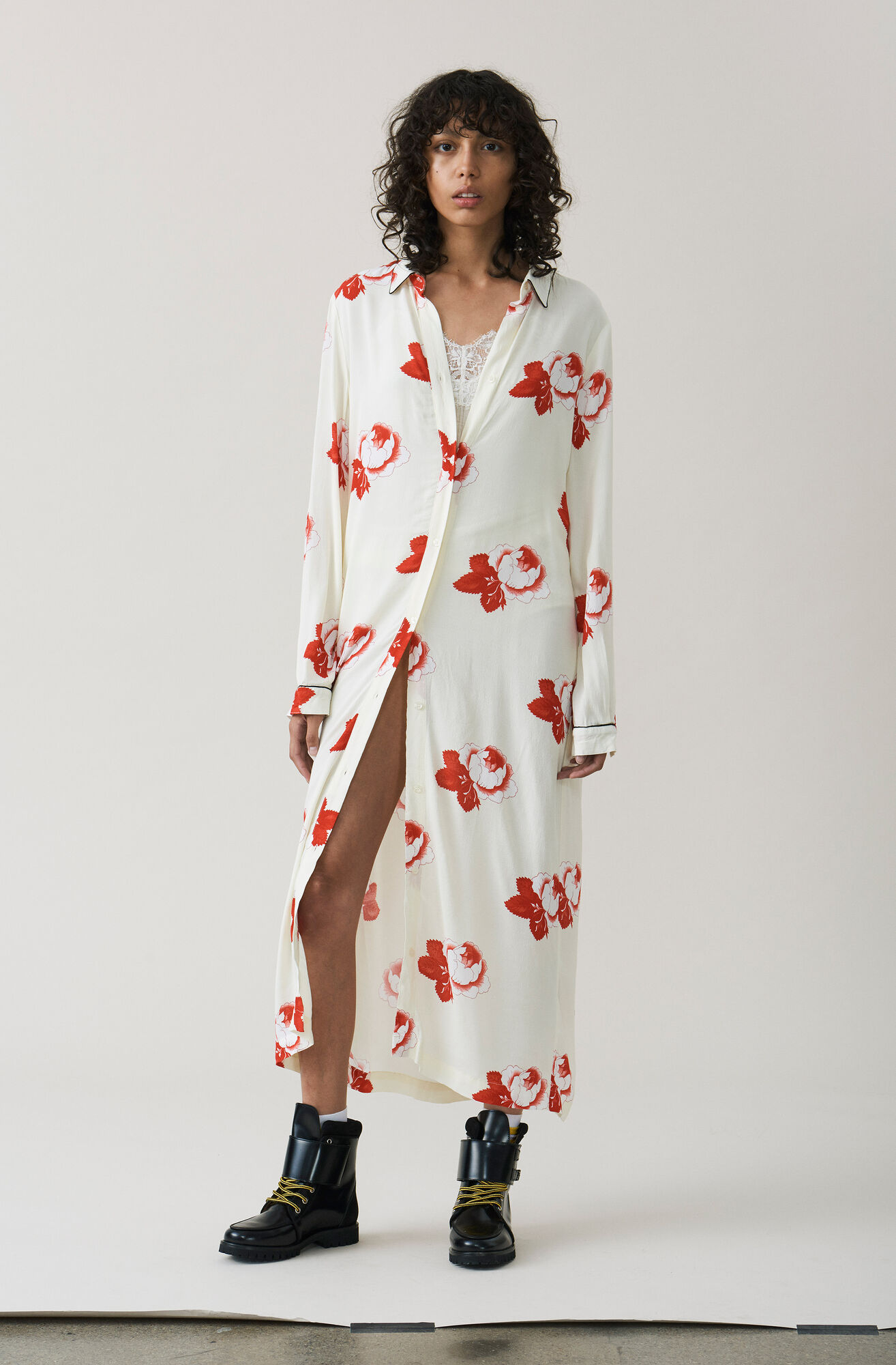 Harley Crepe Shirt Dress, Vanilla Ice, hi-res
