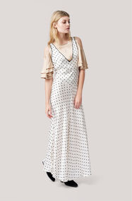 Leclair Satin Maxi Dress, Vanilla Ice, hi-res