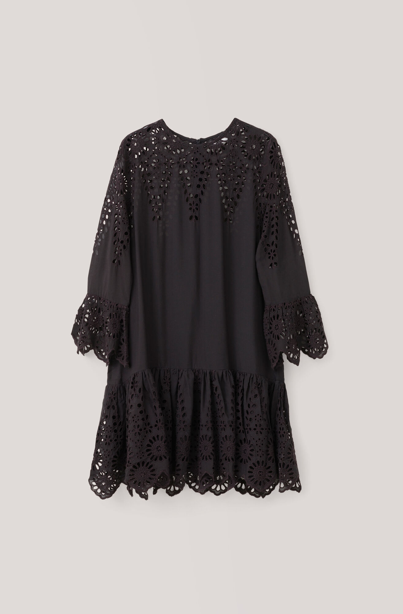 Emile Lace Dress, Black, hi-res