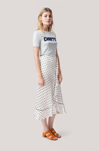 Leclair Satin Skirt, Vanilla Ice, hi-res