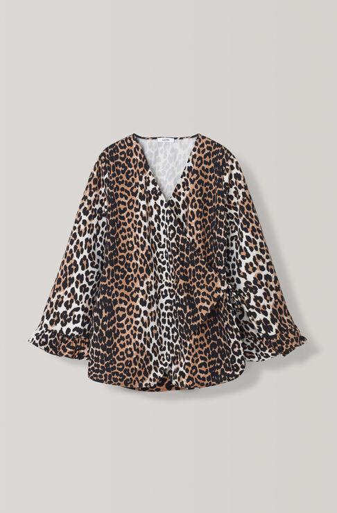 Fabre Cotton Blouse, Leopard, hi-res