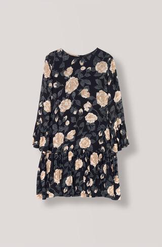 Carlton Georgette Dress, Black, hi-res