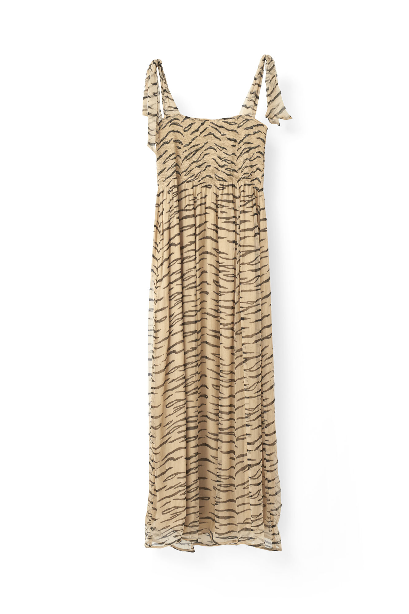 Whitman Chiffon Dress, Cuban Sand, hi-res