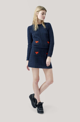 Waterly Jacquard Pullover, Total Eclipse, hi-res